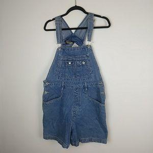 Vintage denim shorts overalls
